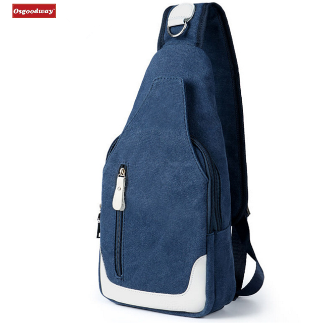 product-Osgoodway-Osgoodway Hot Sale Casual Fashion Custom Logo Men Canvas Chest Bag Crossbody Shoul
