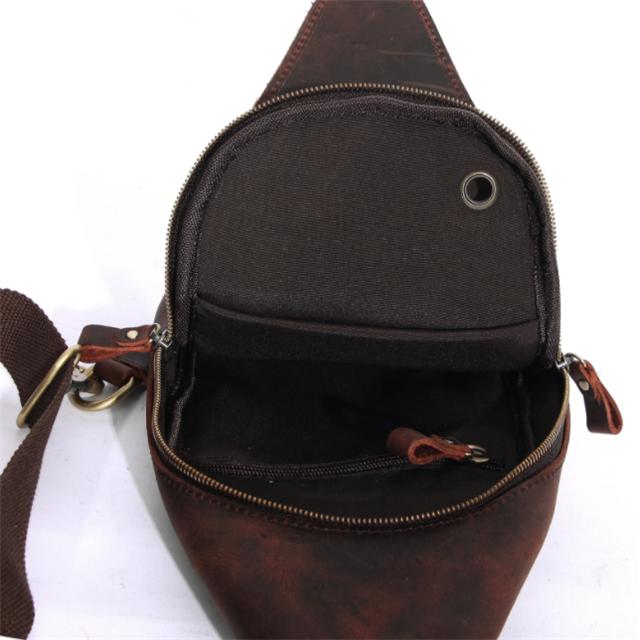 product-Osgoodway-Osgoodway Genuine Leather Men Single Shoulder Backpack Hiking Rucksack Sling Bags
