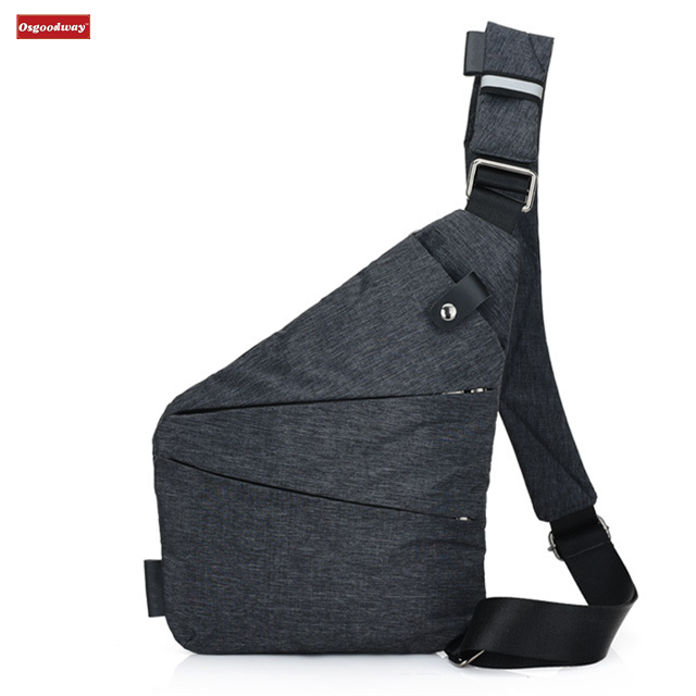 Osgoodway Multipurpose Anti-theft Crossbody Sling Chest Bag Men's Business Crossbody Bag