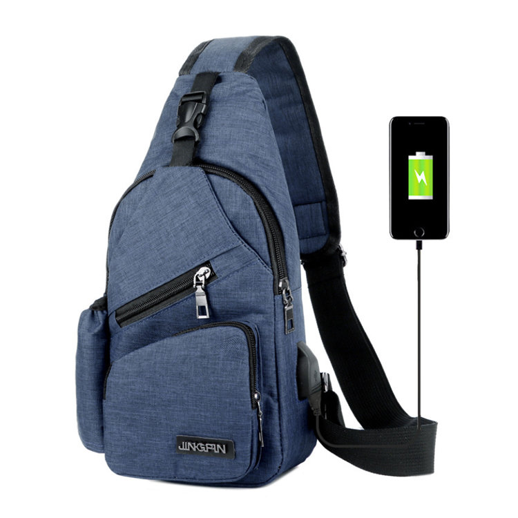 product-Osgoodway Mens Cross Body Small Sling Bag Sports Chest Bag Single Shoulder Bag with USB Char-1