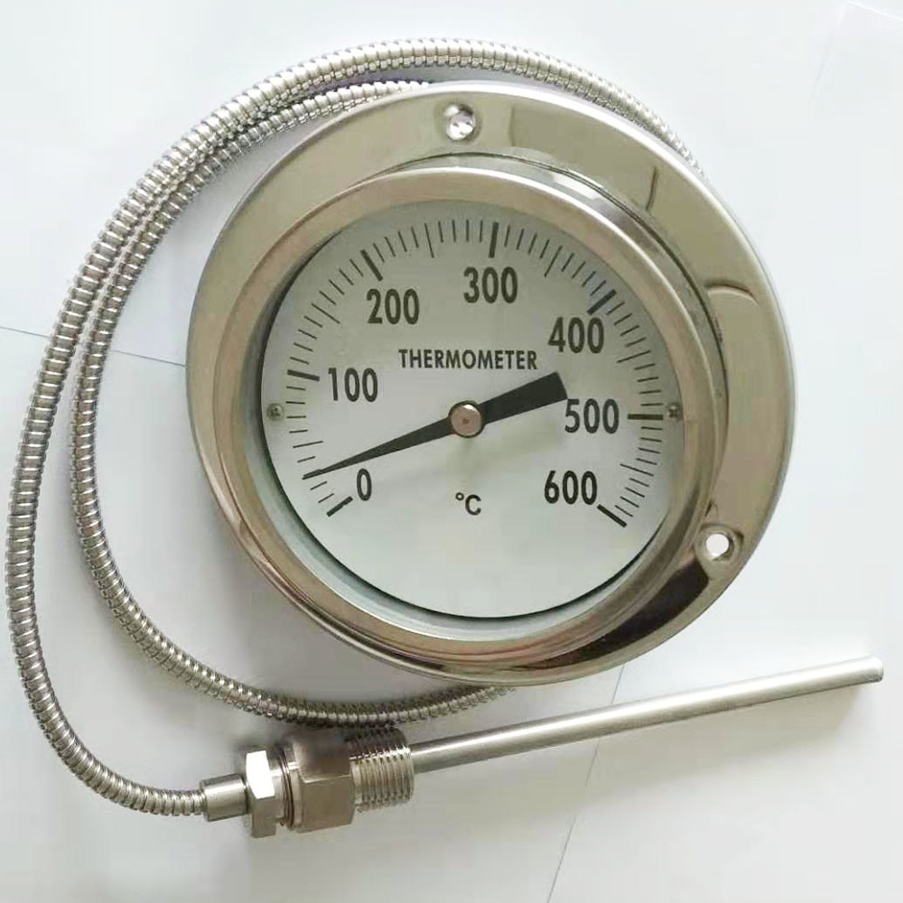 Waterproof oil Filled Pressure Type Thermometer Dial Gauge with Customized Probe and Cable
