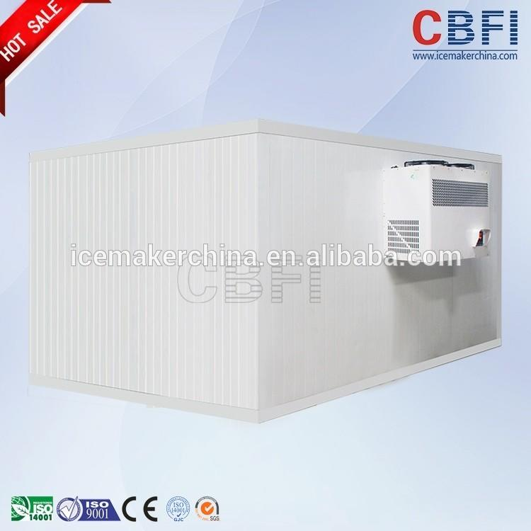 Cold room for storing vegetable ice and meat fish