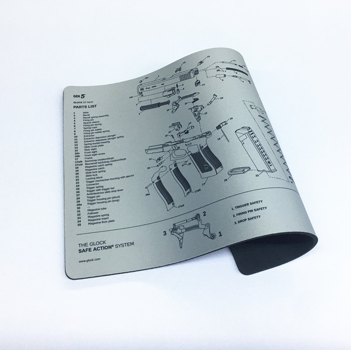 Tigerwings new arrival rubber gun cleaning mat with custom printing