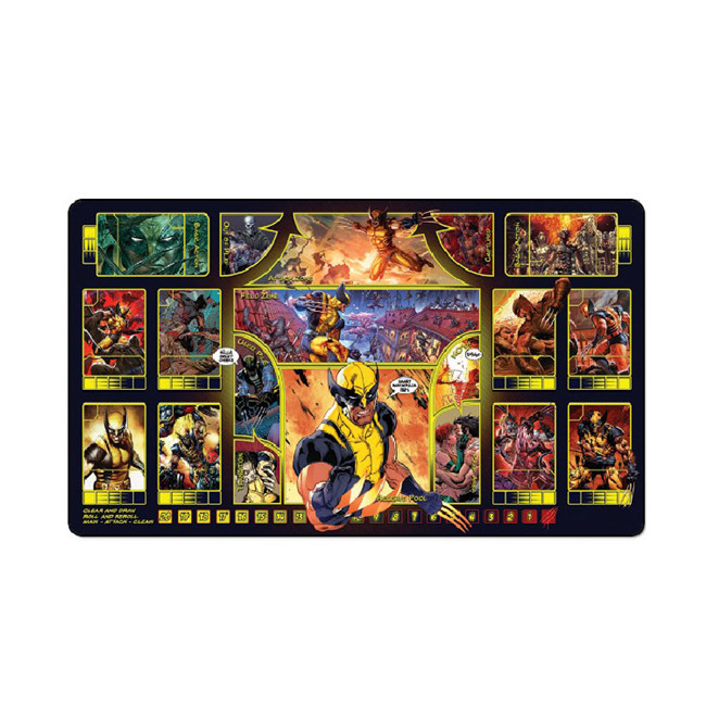 Tigerwings custom logo printing with stitching gaming mouse pad TCG playmat for board game
