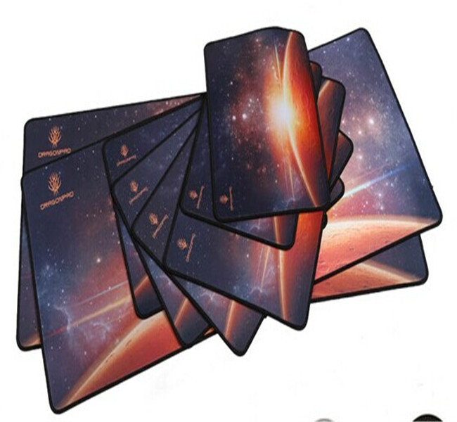 Tigerwings advertising gift items unique tempered glass mouse pad