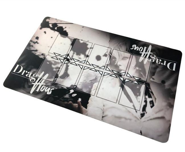 Extra thin natural rubber card game mat, custom logo play mat