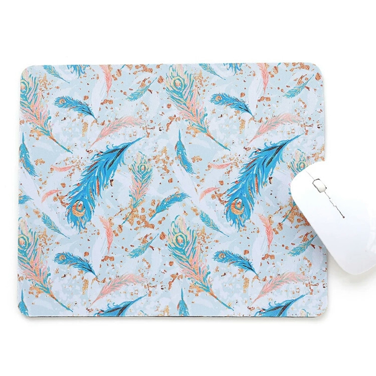 Tigerwingspad 2018 developed custom oblong shaped polyester rubber mouse pad with neoprene backing for any surface
