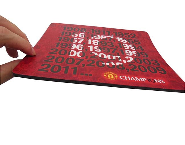 Tigerwings china supplier promotion hard top plastic pvc mouse pad manufacturer