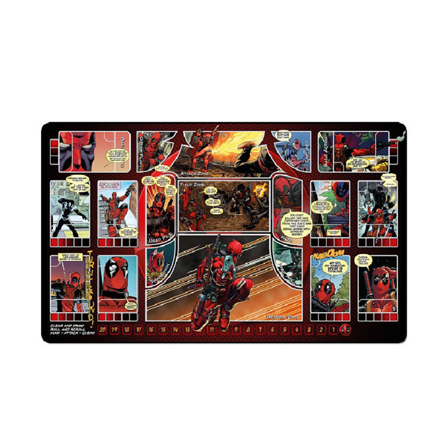 Tigwewings new fashion card game play mat, rubber mat with custom printing