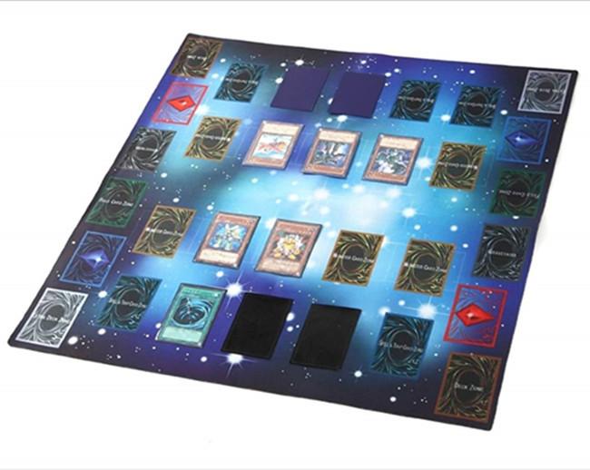 Funny rubber card play mat, custom TCG play game mat
