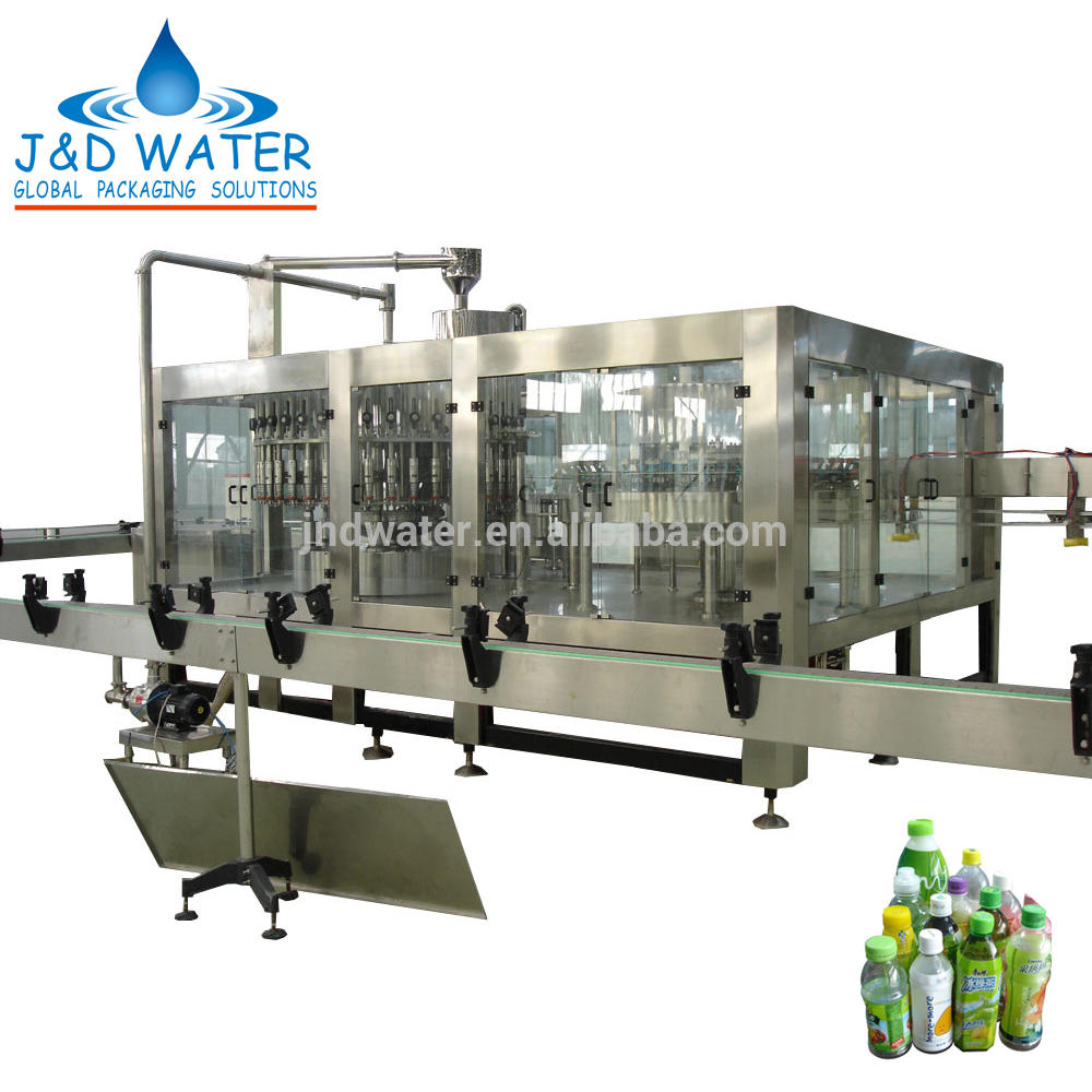 Hot Drinks Rotary Washing Filling Capping Machine