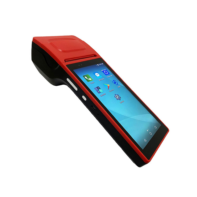 6 inches Big Screen Android Handheld PDA POS Terminal with Thermal Receipt Printer