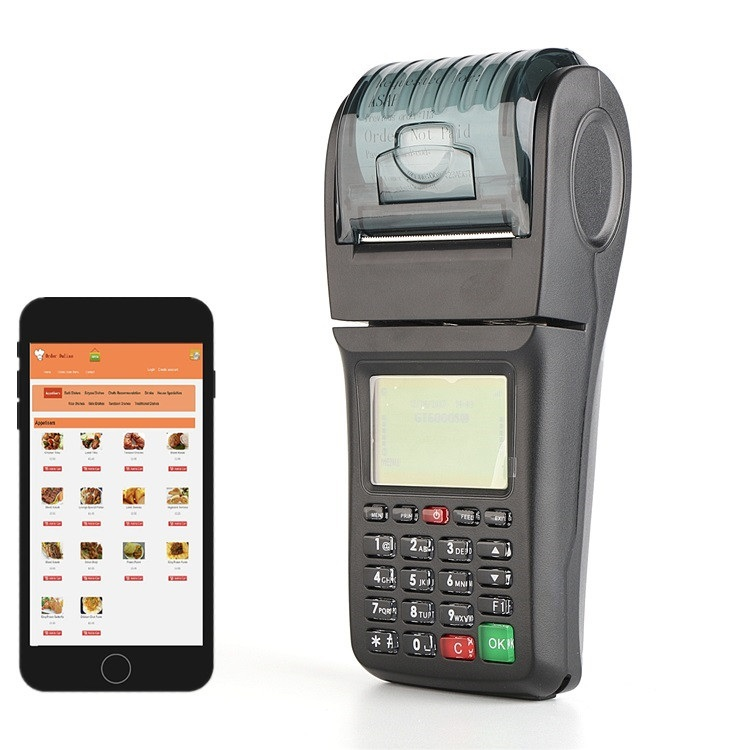 GPRS Portable Handheld Wireless Restaurant SMS Thermal Receipt Printer Free Plugin for WordPress and Open Cart