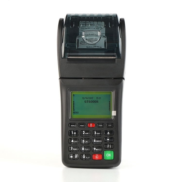 Online and offline GPRS SMS POS Terminal Electronic Handheld Portable Thermal Printer for Bus Ticketing, Mobile Top up, Lottery