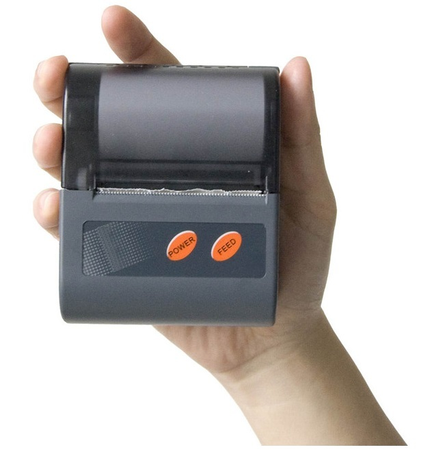 Small iOS Android Mobile Mini Portable Thermal Bluetooth Printer for Barcode Label Receipt