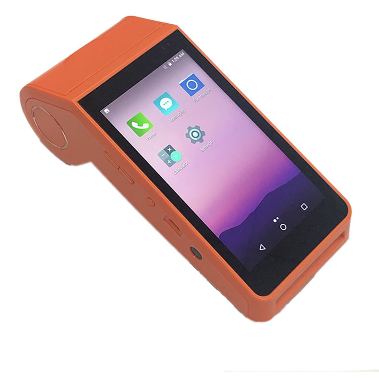 All in one 2GB 5inch 4G Smart Android Handheld POS Terminal With POS System Thermal Printer supports 1D 2D scanning