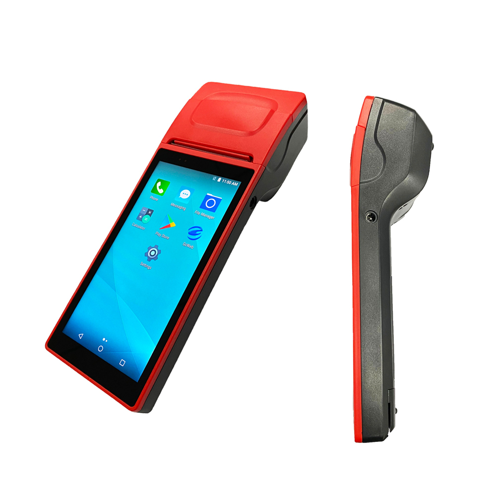 2021 New POS Android Handheld Android POS System with Big Touch Screen 4G WIFI built-in Printer