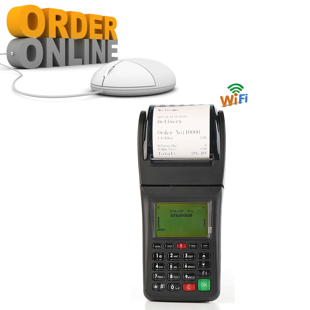 Handheld Mobile WIFI GPRS Online Order Printer Portable Wireless Ticket Printer For Bus Lottery Parking
