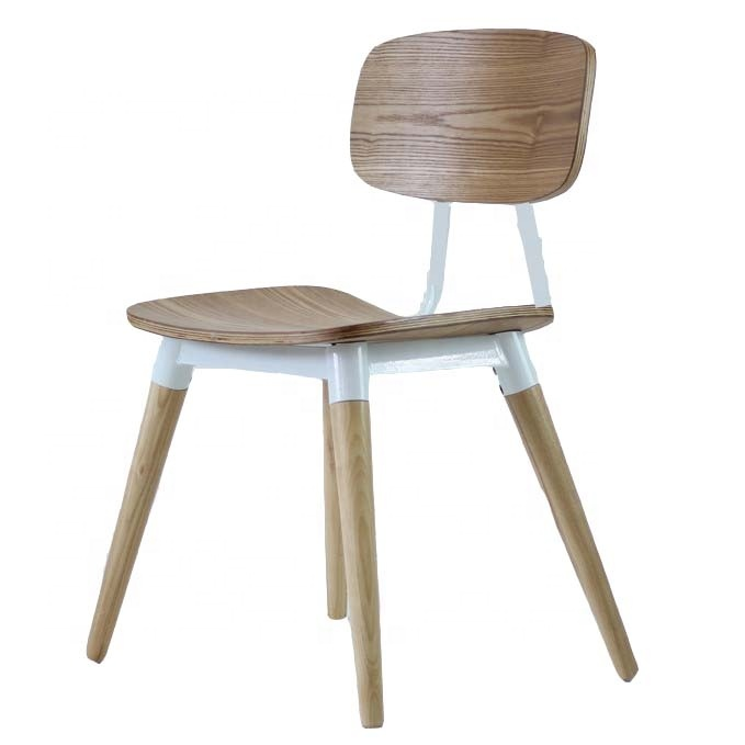 For Fast Food Table And Cafe Dining Modern Furniture Wood Leather Restaurant Chair