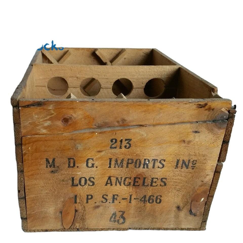 Hot sale Custom antique whisky bottles wooden whisky box