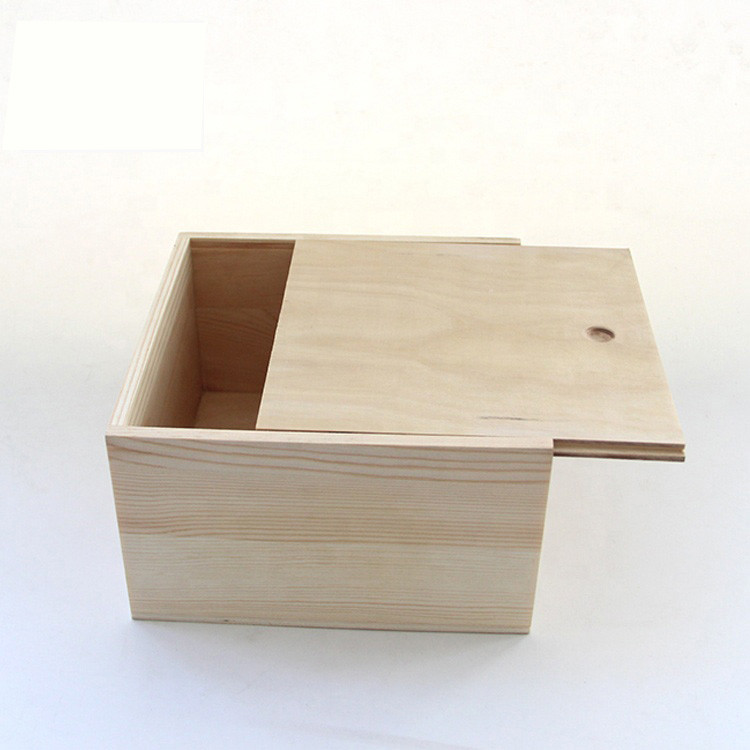 High Quality Luxury Wooden Boxlift off Sliding Lid