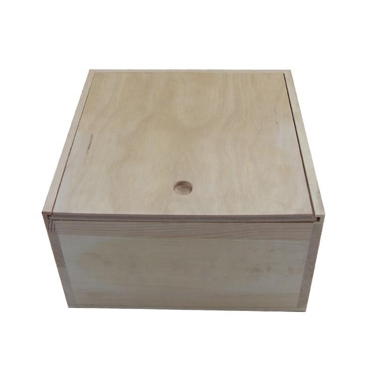 Factory fair price custom logo light weight wooden box
