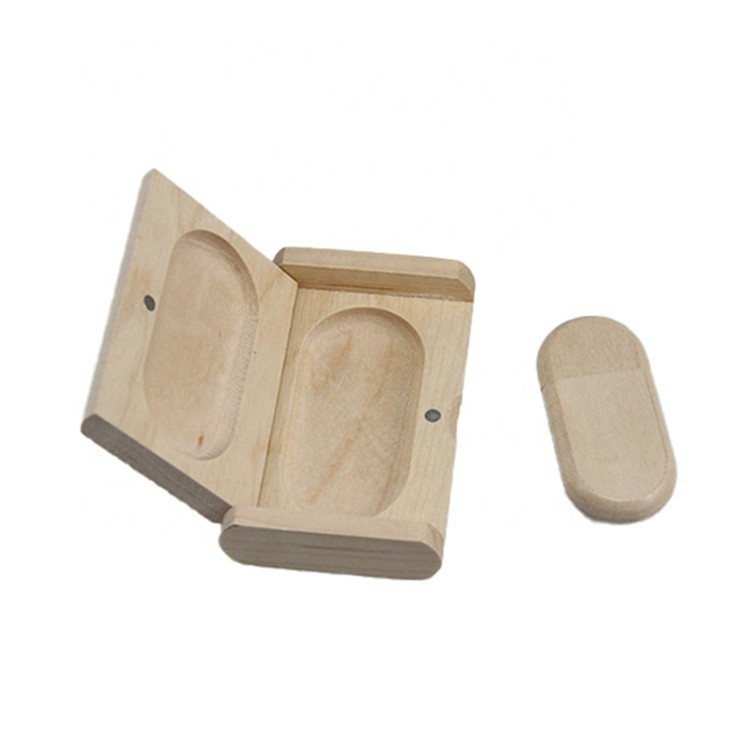 Maple Wood USB Flash Drive with Wooden Box U Disk Memory Stick Pen Drive with Gift Box