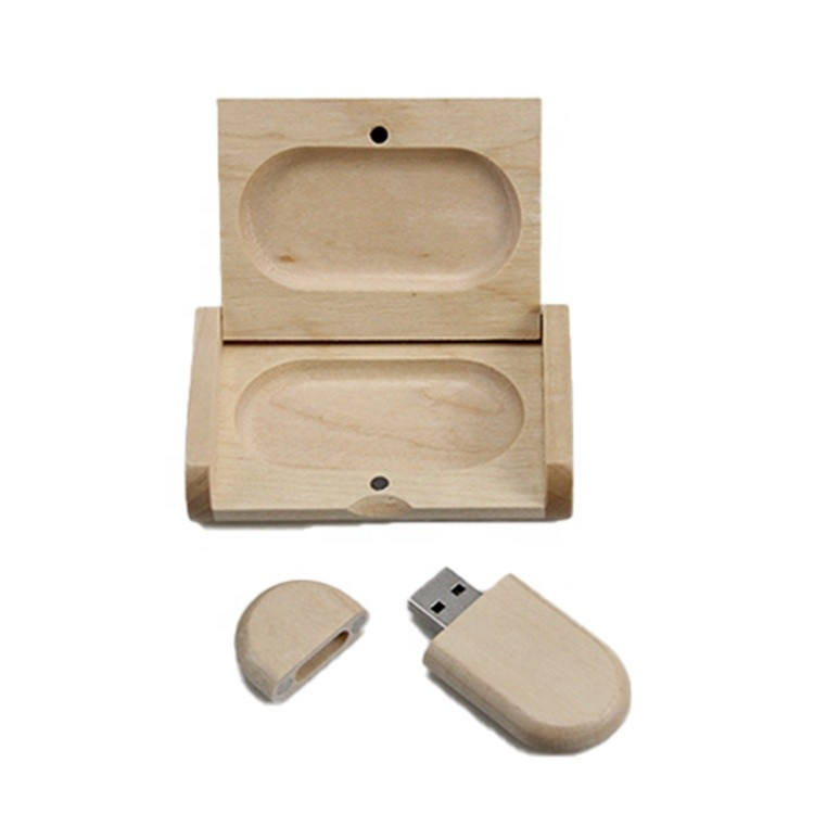 Hot sale Customized fancy maple gift wooden usb box