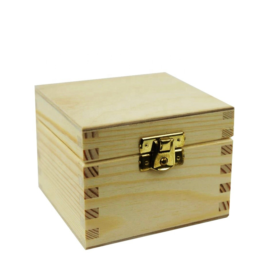 ODM custom made luxury jewelry wooden box with small lock