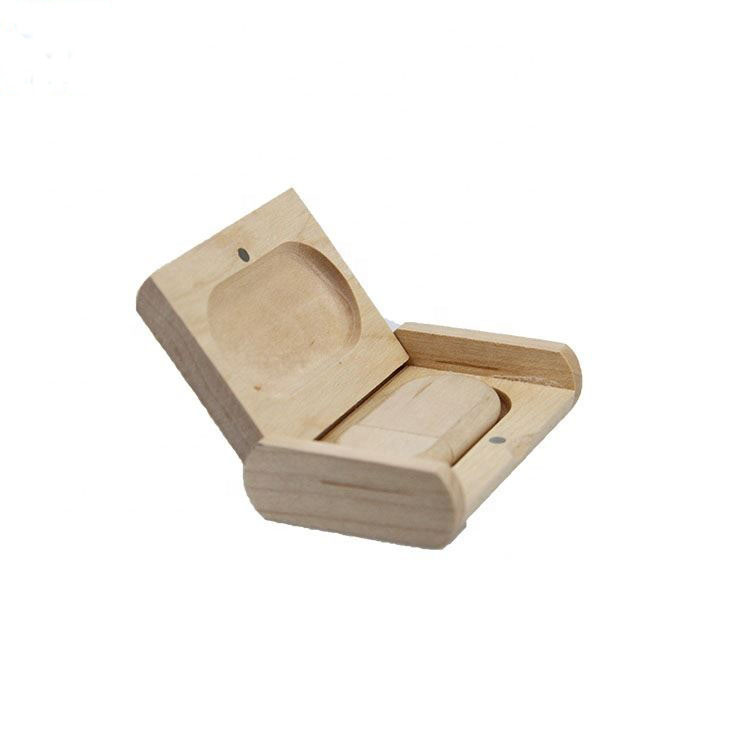 Wooden convenient box shell usb flash drive with gift box