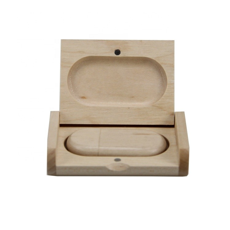 Customized low price wooden packaging box with USB for gift
