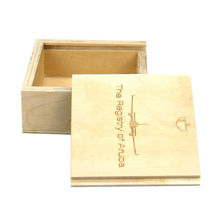 eco-friendly luxury antique wooden square storage box with custom size and logo