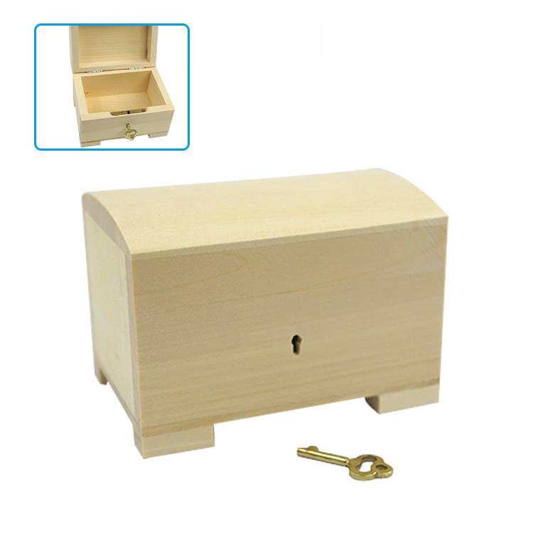 Custom creative useful empty bulk wooden Gift boxes with lock