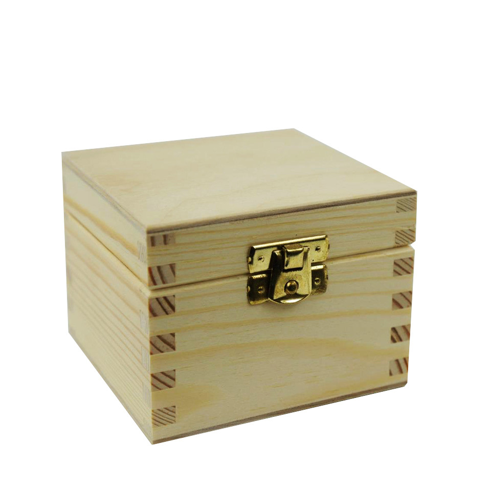 Wholesale luxury useful style custom wooden gift box with lock