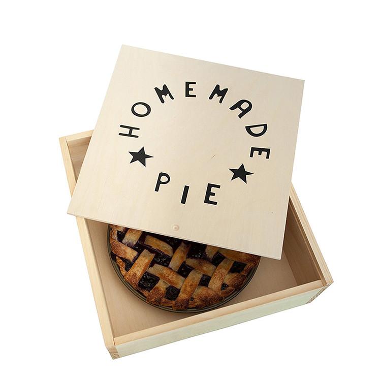 Reusable wooden pie cake dessert box bread storage box