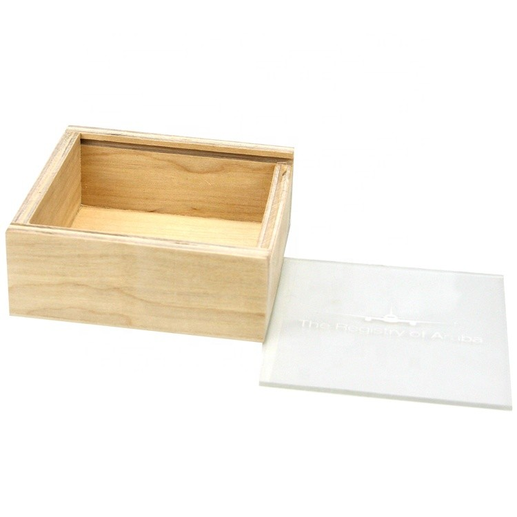 carved custom wooden gift box with sliding top small wooden trinket & favour boxes