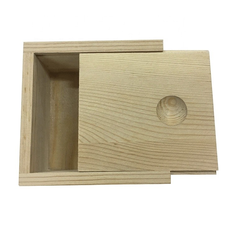 custom logo natural color jewelry watch gift decor storage wooden box supplier
