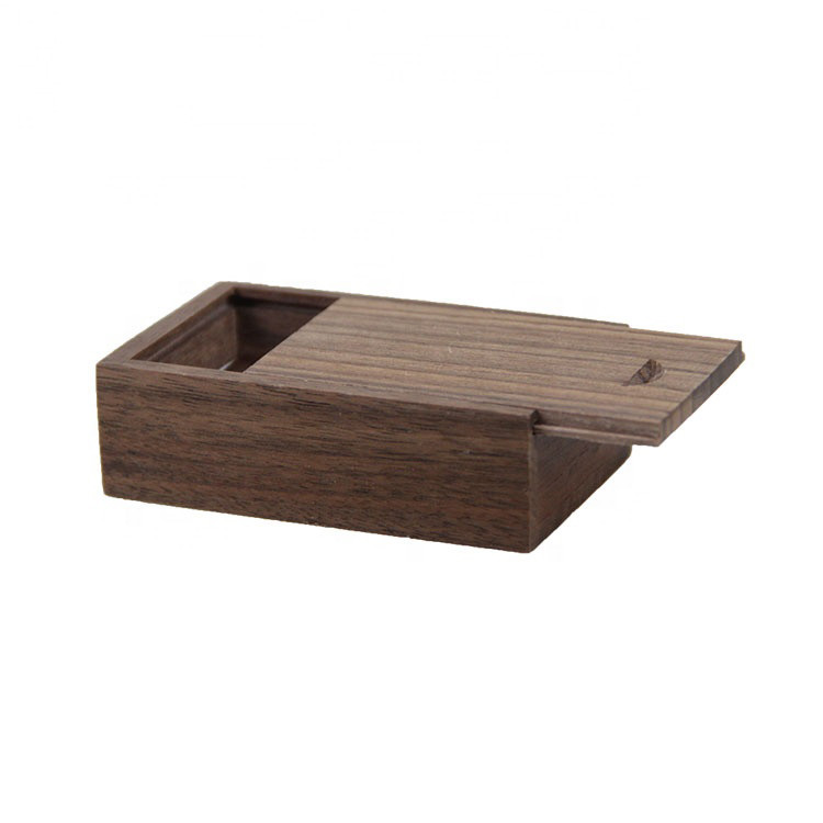 Normal size simple useful wooden box for USB flash drive