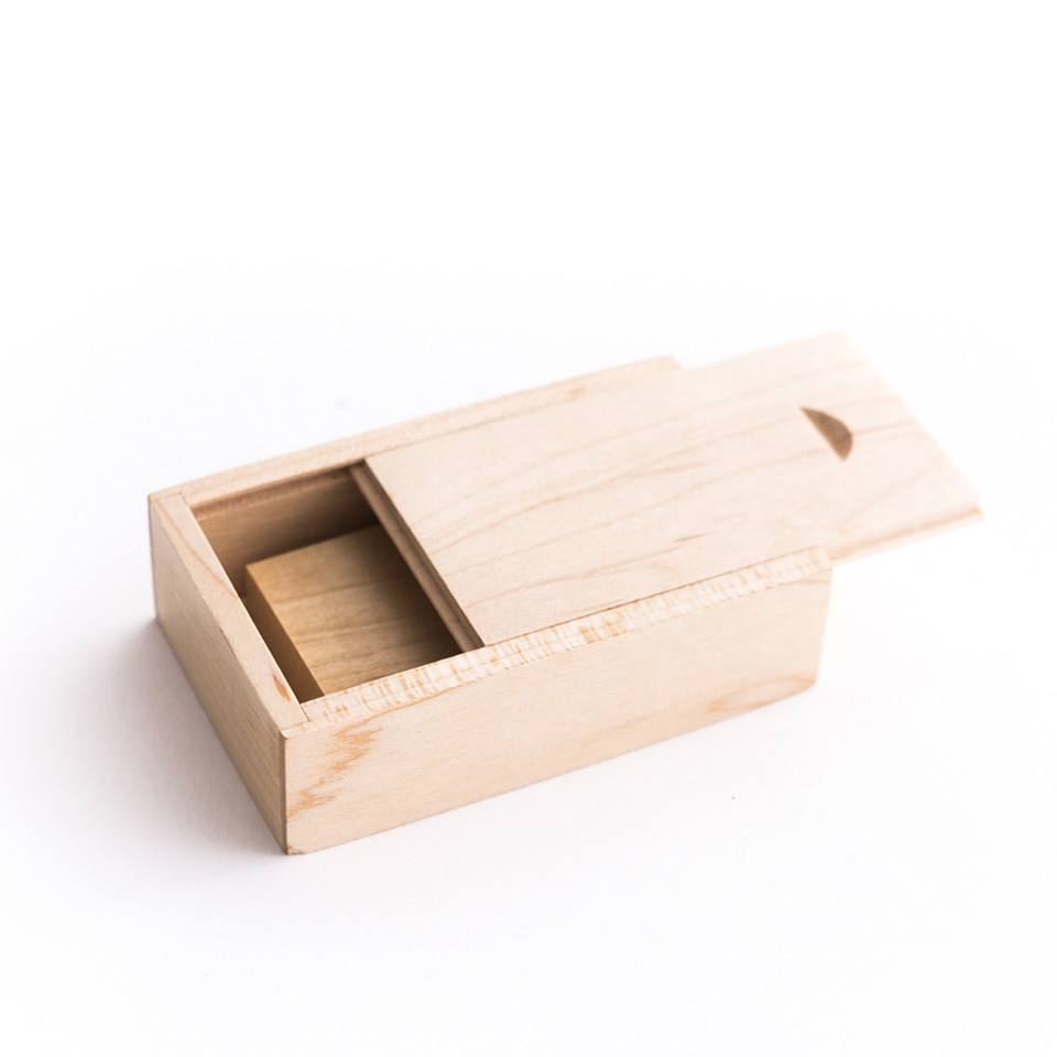 Hot sale Customized fancy cheap flash drive gift wooden box usb