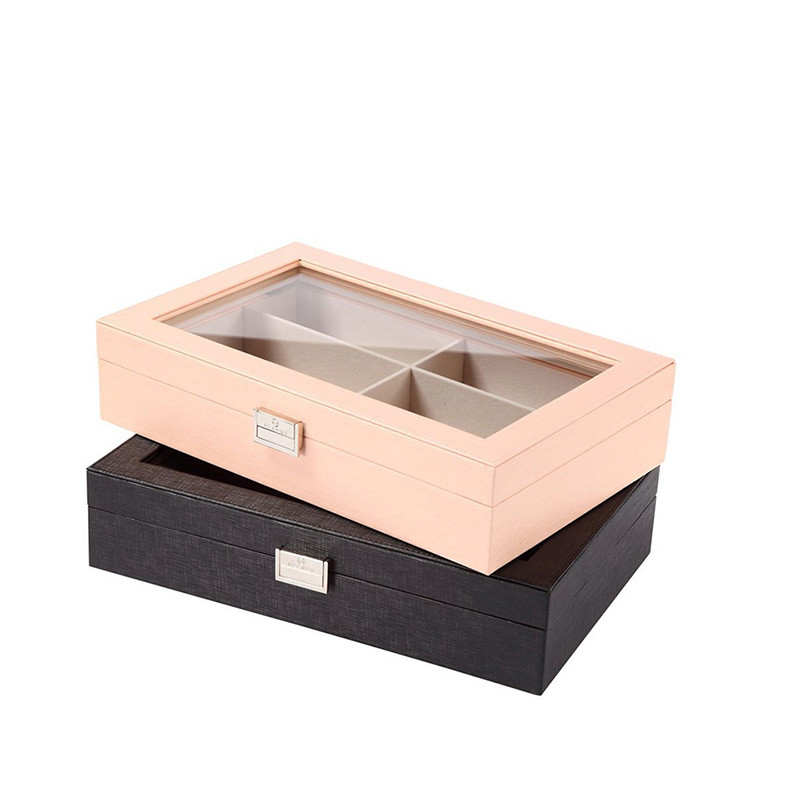 Fashionable custom unfinished simple useful wood tie gift storage boxes