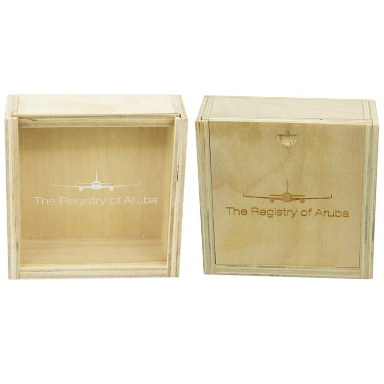 high light new design custom size small laser cut pattern carved wooden storage gift box with sliding lid