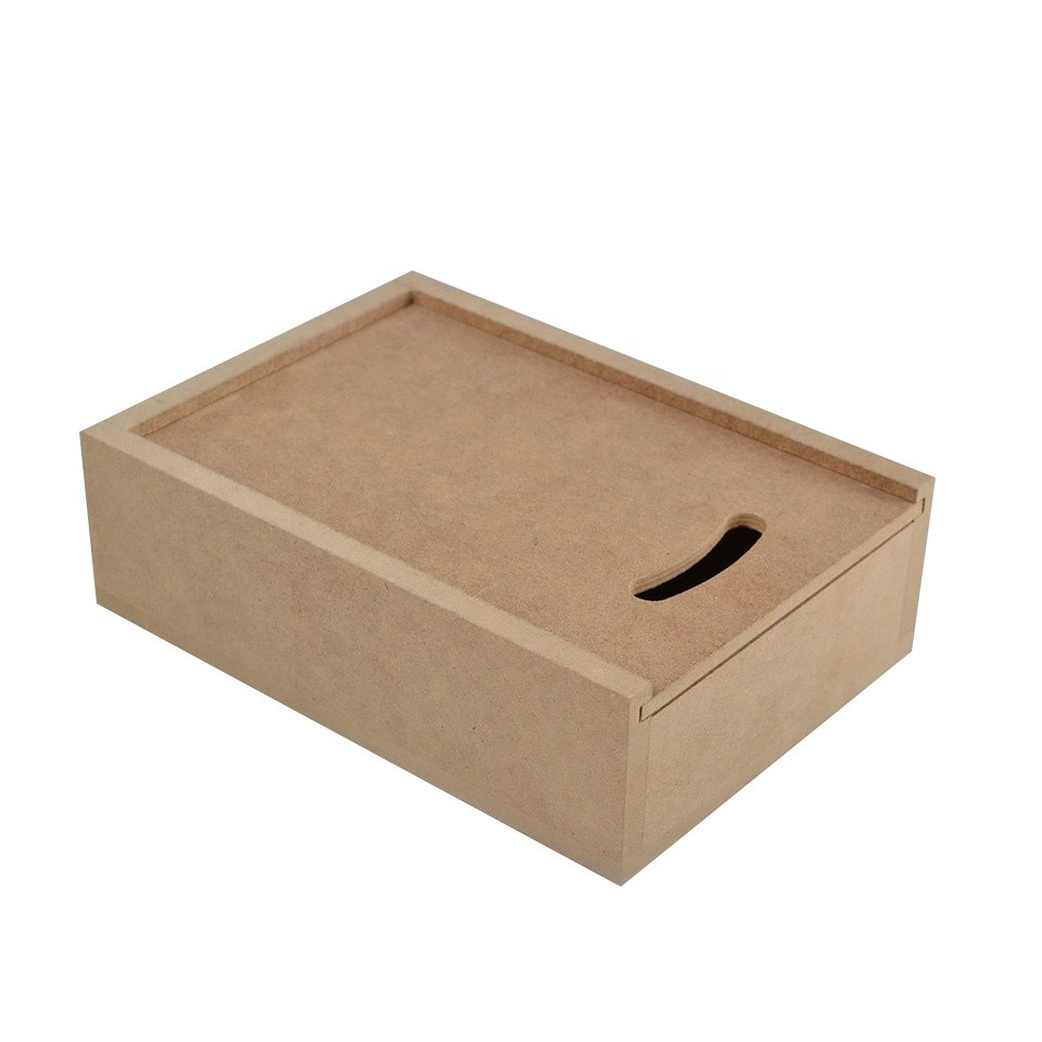 Customized MDF wooden boxes with sliding lid