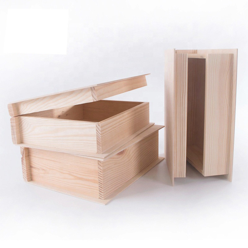 HandmadeModern style simple Cheap Unfinished Wooden Book Box
