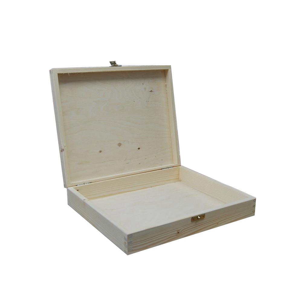Custom Simple useful design handmade MDF oak pinewooden box