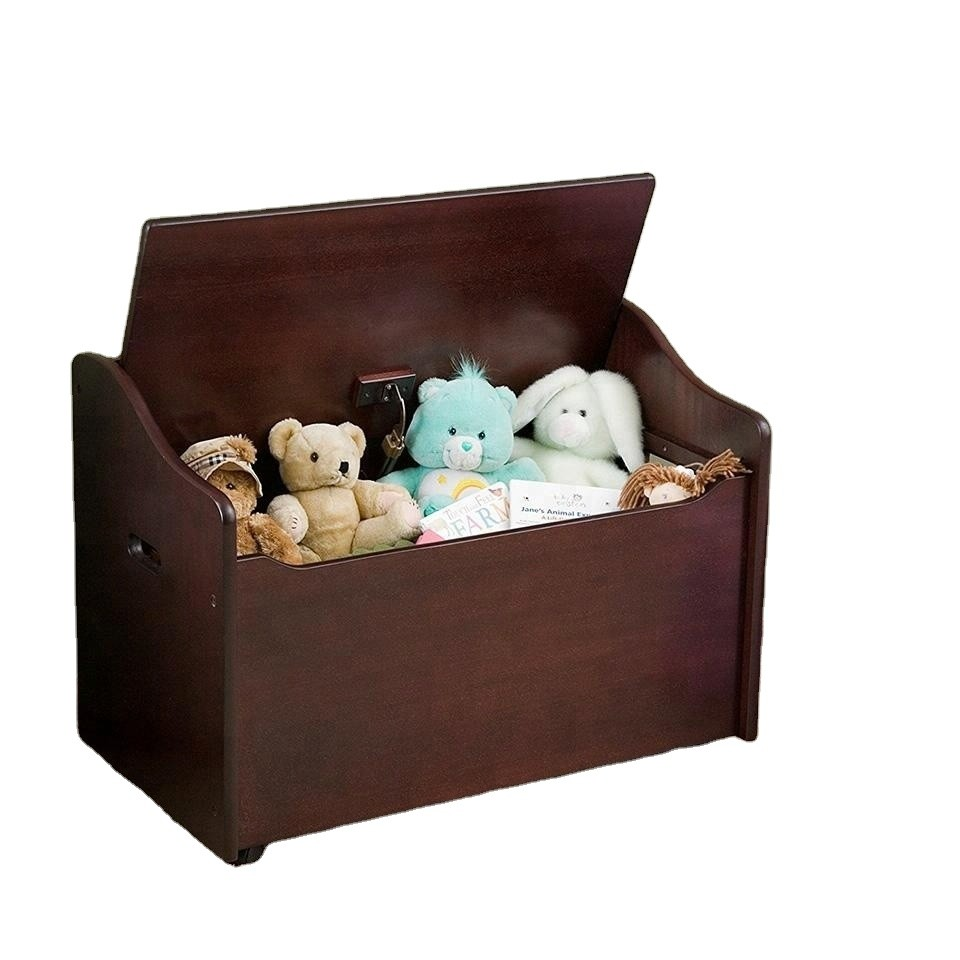 Wholesale eco-friend storage unfinished wood toy box