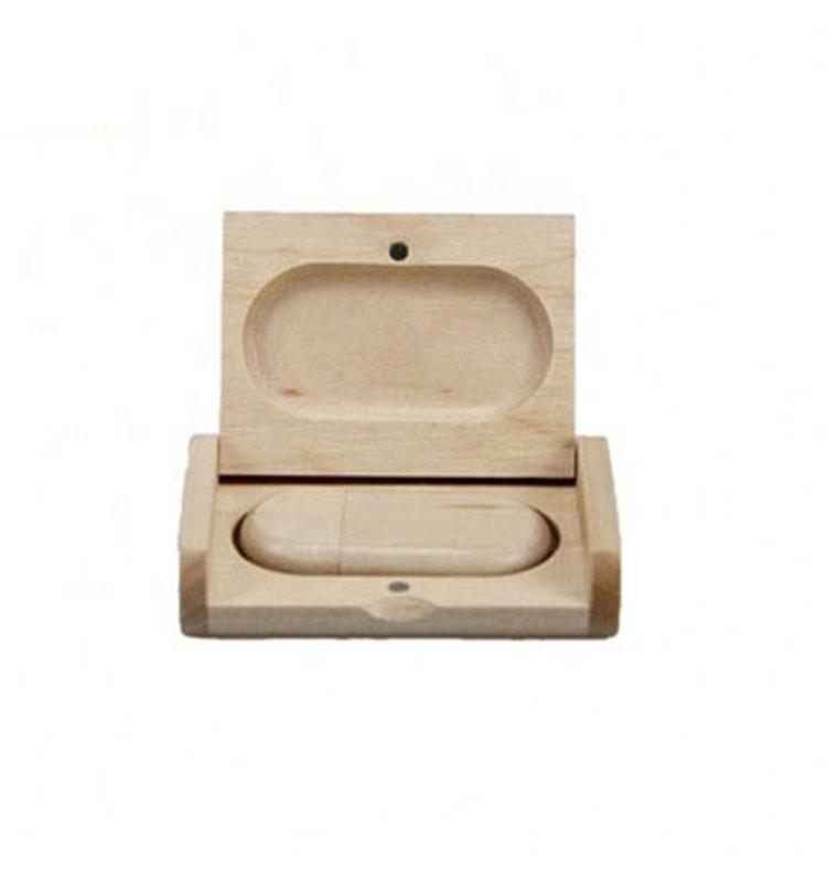 Custom logo bulk wooden USB flash drive in wooden box