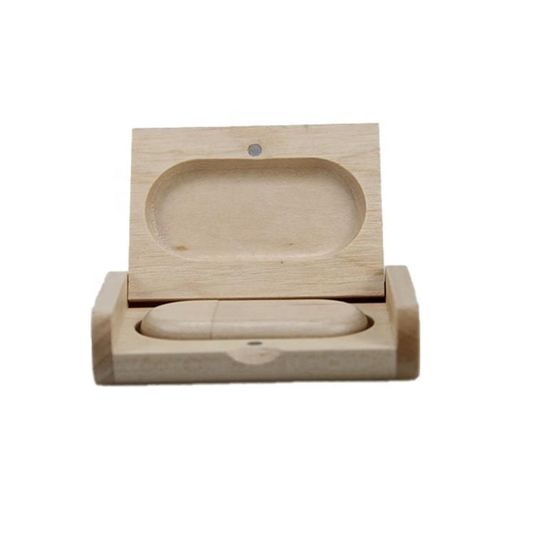 Vitalucks modern maple wooden wedding usb gift box flash drive usb box with usb