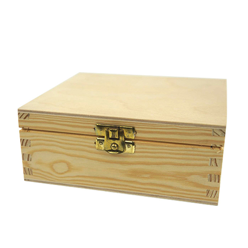 Factory price wholesale Useful gift plain wooden box With Lock