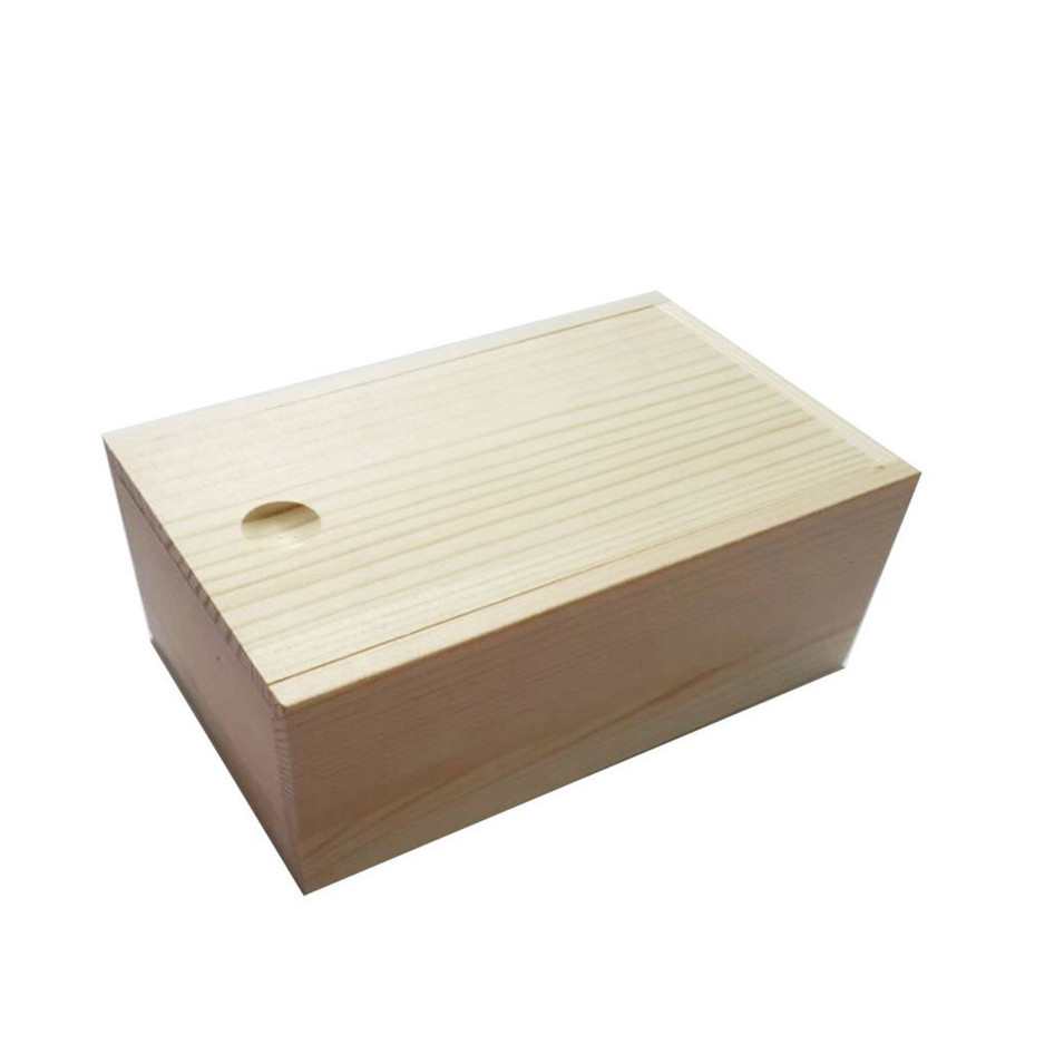 Cheap pine wood Plywood Wood Gift Box with Custom Slide Lid