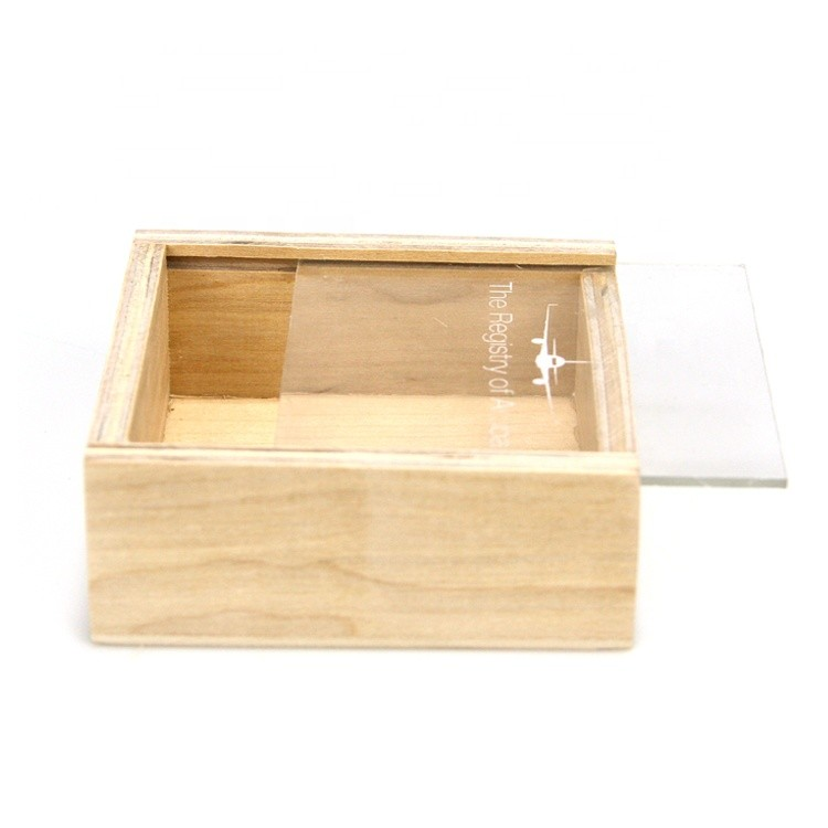 small unfinished wooden storage box with sliding lid wooden packaging box